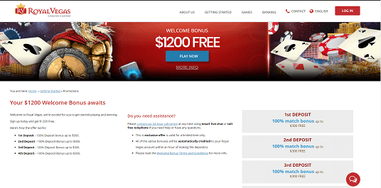 Royal Vegas Online Casino – The Review Page